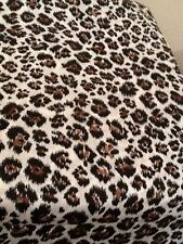 Leopard Print Fabric 100% Cotton Quilting White Brown Black Animal Print 3 YDS