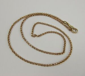 9ct Gold Belcher Chain With 15ct Clasp - 24 Inches