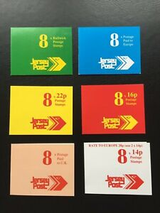 6 x JERSEY Post OFFICE Stamp Booklets, 1992/3 Mint
