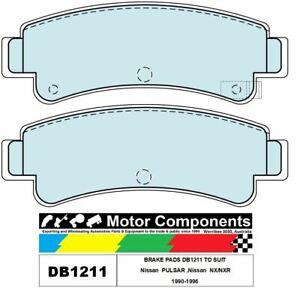 BRAKE PADS DB1211 TO SUIT Nissan  PULSAR ,Nissan  NX/NXR 1990-1996