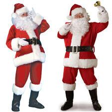 7tlg.Set Weihnachtsmann Kostüm Verkleidung Santa Claus Nikolauskostüm für Herren