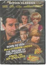 4 Action Movies DVD New Born To Win Bullet Down Under Angel on my Shoulder