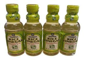 Kikkoman Rice Vinegar 10 fl oz, pack of 4 Bottles, Ex 03/22