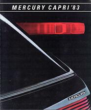 MERCURY CAPRI 1983 USA delle vendite sul mercato opuscolo standard L GS RS MAGIA NERA