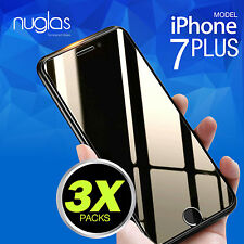3 X Nuglas Tempered Glass Screen Protector Film for Apple iPhone 7 8 Plus