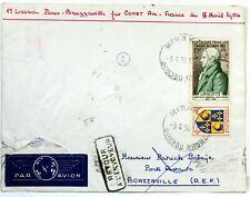 1954 COMET PARIS BRAZZAVILLE PAR AIR FRANCE COVER Premier vol AC101