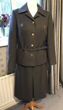Lovely Vintage Brown Wool Skirt Suit Size S