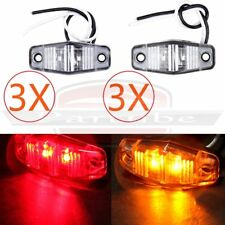 6X LED Light 2 Diode Red/Amber Universal Mount Clearance Side Marker Light