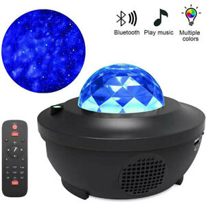 Galaxy Star Night Lamp LED Starry Night Light Ocean Wave Projector With Music