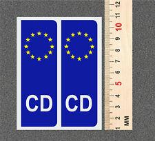 2 x CD CORP DIPLOMATIC EU Euro Number Plate VINYL STICKER CAR  +