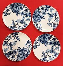 """Set of 4 Royal Norfolk 10.5"""" Blue Floral Dinner Plates -ships N 24 HRS"""