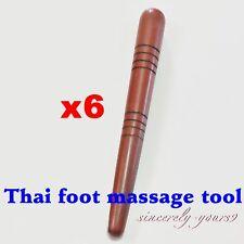 Wooden Thai Foot Massage Tool Stick Therapy Relax Reflexology Press Point 6pcs