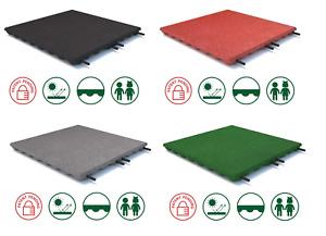 Fallschutzmatten Spielplatzmatten Gummiplatten Fallschutzplatte 35mm 4 Farben