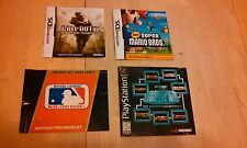 Lot of 6 Nintendo NDS GBA and Playstation manuals  INCLUDING Super Mario Bros ds