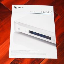 ESOTERIC D-07X - brochure DAC 32 bit digital to analog converter high end audio