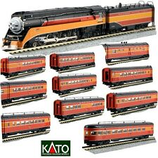 Kato 126-0307 N Scale 4-8-4 GS-4 Southern Pacific Lines Locomotive w/ 10 Car Set