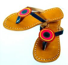 hand stitching slippers handmade leather flower sandals shoes chappals footwear
