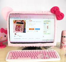 "New Hello Kitty Bow Plush Computer LCD Monitor Decoration 17""-21"" HC30"