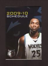 Minnesota Timberwolves--Al Jefferson--2009-10 Pocket Schedule--KSTC