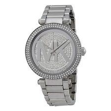Original Michael Kors MK5925 Damenuhr Uhr Parker Kristall Silber Neu & Ovp