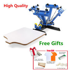 4 Color 1 Station Screen Printing Press Machine Silk Screening Pressing DIY