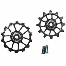 OMNI Racer WORLDS LIGHTEST OVERSIZE Ti Ceramic Derailleur Pulleys: SHIMANO 11 S