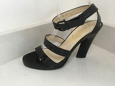 SALVATORE FERRAGAMO Ladies black patent leather shoes / sandals UK 7 1/2