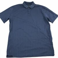 Tiger Woods Collection Nike Golf Dri FIT Polo Shirt Men's XXL 2XL Blue Striped