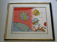 LARGE PETER MAX SERIGRAPH SILKSCREEN POP ART ABSTRACT SIGNED LIMITED MODERNISM