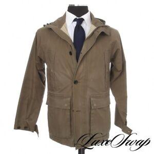#1 MENSWEAR Margaret Howell Olive Goretex Detachable Hood Storm Parka Coat M NR