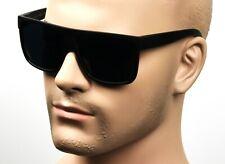Large Square Cholo Sunglasses Super Dark OG LOC Style Gangster Black/Matte C1SMK