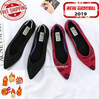 New Pointed Toe Flats Environmental Women's shoes US Size 4-12 variety colors