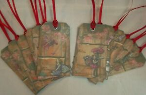 Set of 12 Handmade Fairy Gift Tags Antique Vintage Old Style Labels Party