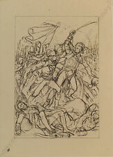 """Peter Johann Nepomuk Geiger (1805-1880) """"Napoleon in Toulon"""", Ink Drawing"""