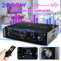 000W 110V CH Bluetooth-Stereo-Verstärker Karaoke FM USB-Doppelmikrofon