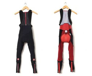 Mens CASTELLI Bib Pants Cycling Black Size L