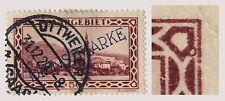 SARRE / SAAR / SAARGEBIET 1928 Yv.S22 / Mi.D28.III Plattenfehler Kreis rechts...