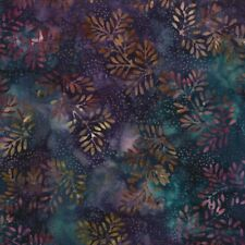 1 Yard Remnant Wilmington Batavian Batik Fabric Dotty Ferns 22107-674-Purple