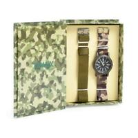 Orologio + Cinturino TIMEX CAMPER T2N363KCAMO Tessuto Camouflage Militare Verde