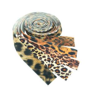 5 Yards 25mm Sewing Crafts Supply Leopard Ribbon Velvet Ribbon Hair Band DIY
