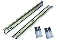 12 Soft Close Drawer Slides Full Extension Runners Rear Mount with Screws Sl