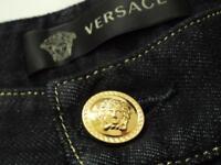 VERSACE Iconic Denim Jeans SZ36 RRP799GBP Blue straight leg Trousers New