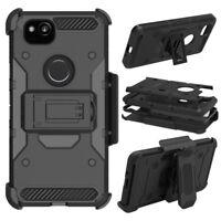 Hybrid Hard Holster Case Kickstand Belt Clip Phone Cover For Google Pixel 2 XL