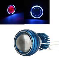 Motorcycle Headlight LED Hi/Lo Projector Lens Angel Eye Halo Ring Devil Light