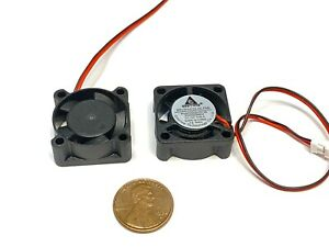 2 Pieces 12v fan 25mm x 10mm 2510 computer cooling 2pin mini C7