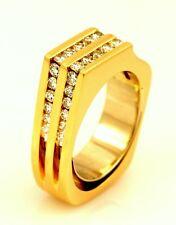 Trisko 14k yellow gold 1.17ctw channel diamond free form designer ring 15.23g