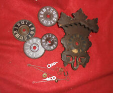 4 Cuckoo Dials & Cuckoo Parts-One Cuckoo Clock Front, Hands, All Sell Together