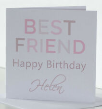 Personalised Best Friend Birthday card for a female friend, her, special friend