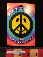 Hippie JACKET PATCH ~ PEACE SIGN SYMBOL & Don't Worry Be Happy Face  62T2