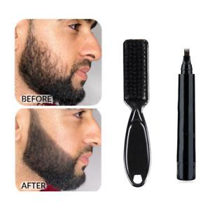 Waterproof Beard Pencil Filler Hair Grower Long Last Moustache Eyebrow Brush